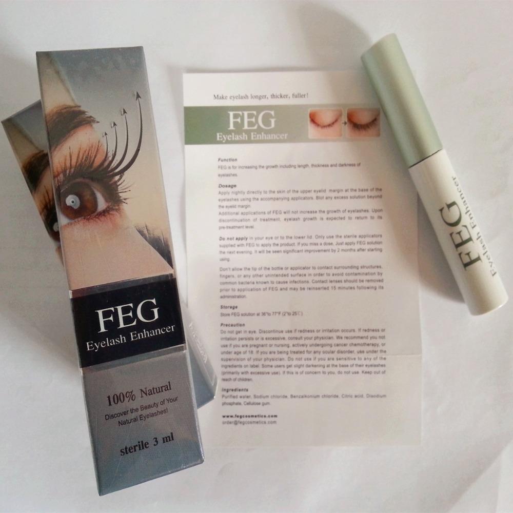 FEG Fluid Growth Eyelashes Powerful Eye Cosmetics Original Eyelash Serum 3,0mL/Bottle - COSMETICS store