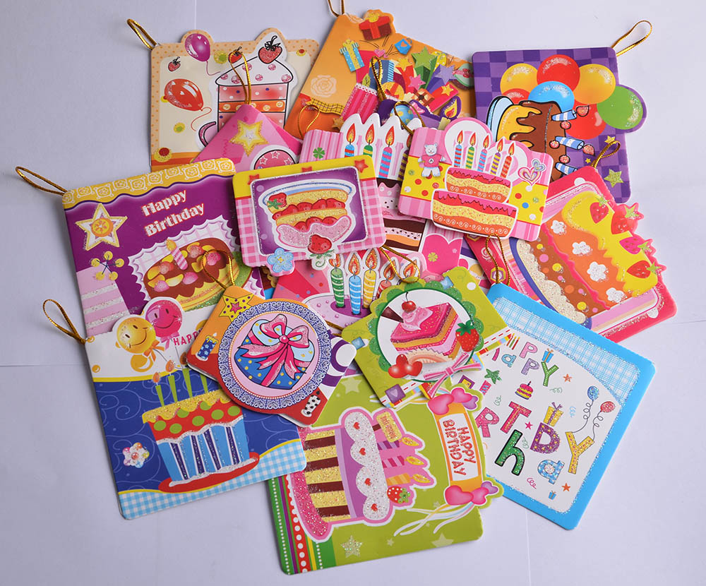 16pcs/set Birthday Folding Type Invitation Cards Children Gifts message card Festivals blessing card small gift card(China (Mainland))
