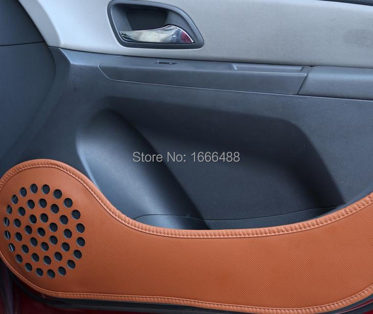 Car door protection decoration leather pad KIA Rio K2 K3 K5 Sportage R Forte Soul, auto accessories 4pcs/set - Leo-po store