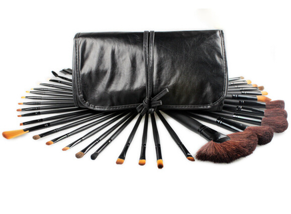 professional 32pcs make up brushes high quality facial cosmetic kit beauty bags set makeup(China (Mainland))