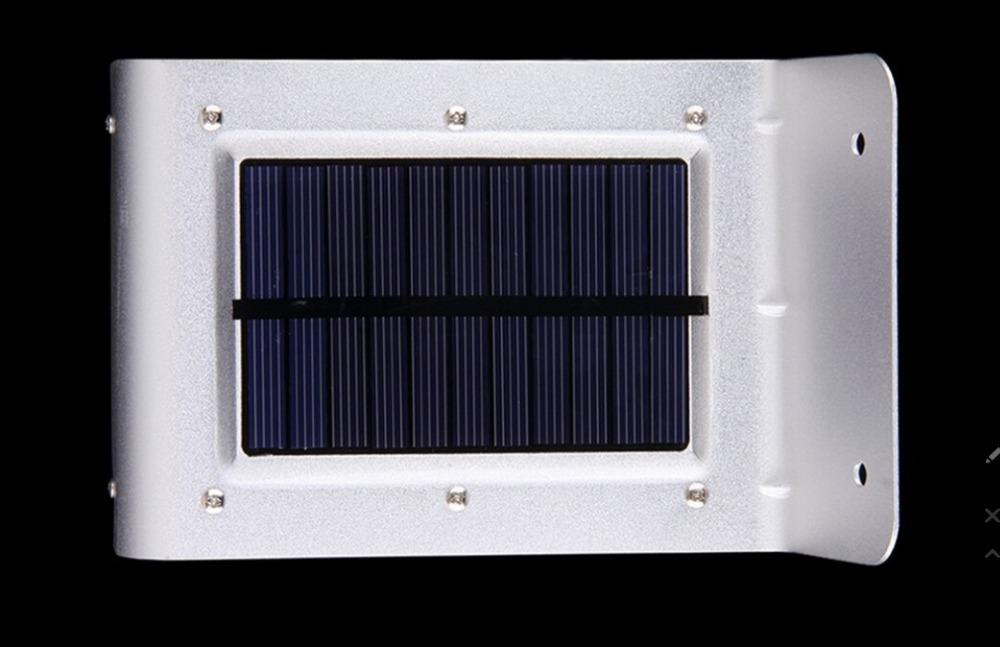 Outdoor solar light 16 led luminaria solar wall stair way for Luminarias de exterior led