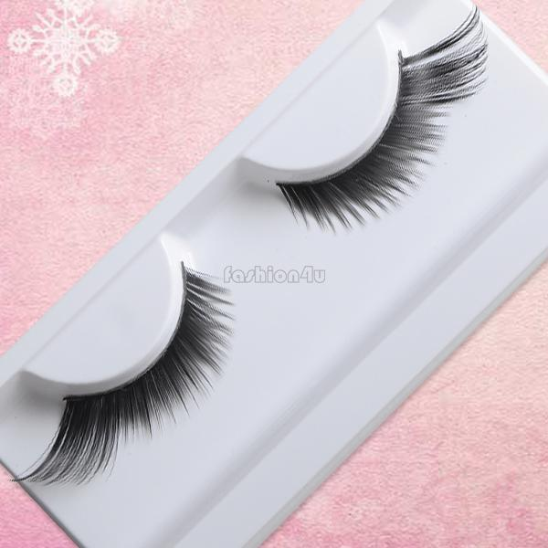 eyelash extension kit fake eyelashes charming black exaggerated dramatic makeup feather false eyelash eye lashes #14 EQ9193(China (Mainland))