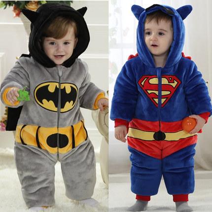 Hot Sale New Unisex Winter Warm Superman Batman Onesie Sleepwear Pajamas For BabyОдежда и ак�е��уары<br><br><br>Aliexpress