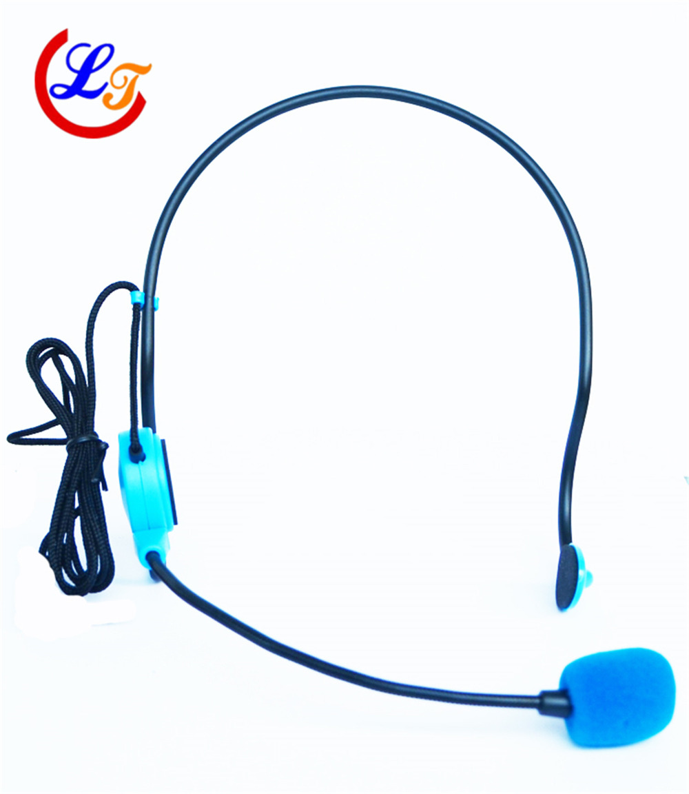 Professional Blue Wired Microphone Headset Microfone for Voice Amplifier Speaker Mike With Bright Clear Sound MIC(China (Mainland))