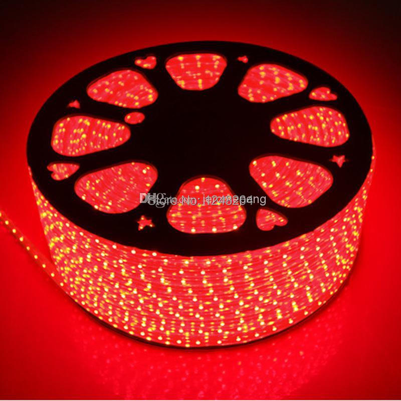 Wholesale New Products 50M Epistar SMD3528 60lights 220V 12LM LED Strips LED Flashing Lights with a EU/US Power plug IP67(China (Mainland))