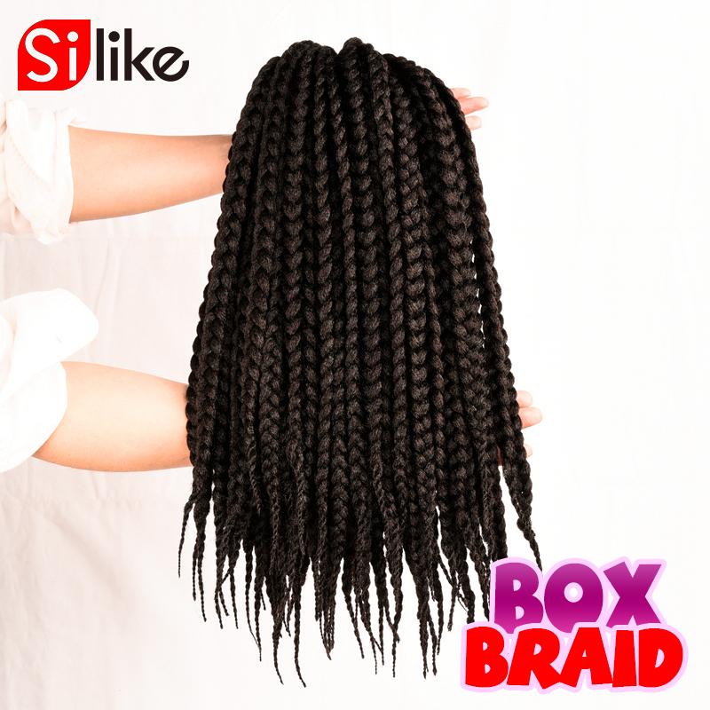Pre twisted BOX Braids Black Brown Burgundy Synthetic Crochet Braiding ...