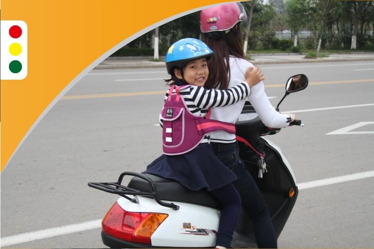 New Kids Motorcycle Safety Belt Adjustable Electric Vehicle Safe Strap Carrier For Child Safe Rider Belt Baby carrier Backpacks