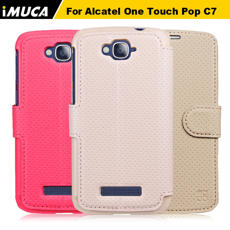 iMUCA Hight Quality 100% Original PU Leather Cover Case Alcatel One Touch Pop C7 4 colors Stock - Baseton Inudstrial (HK store limited)