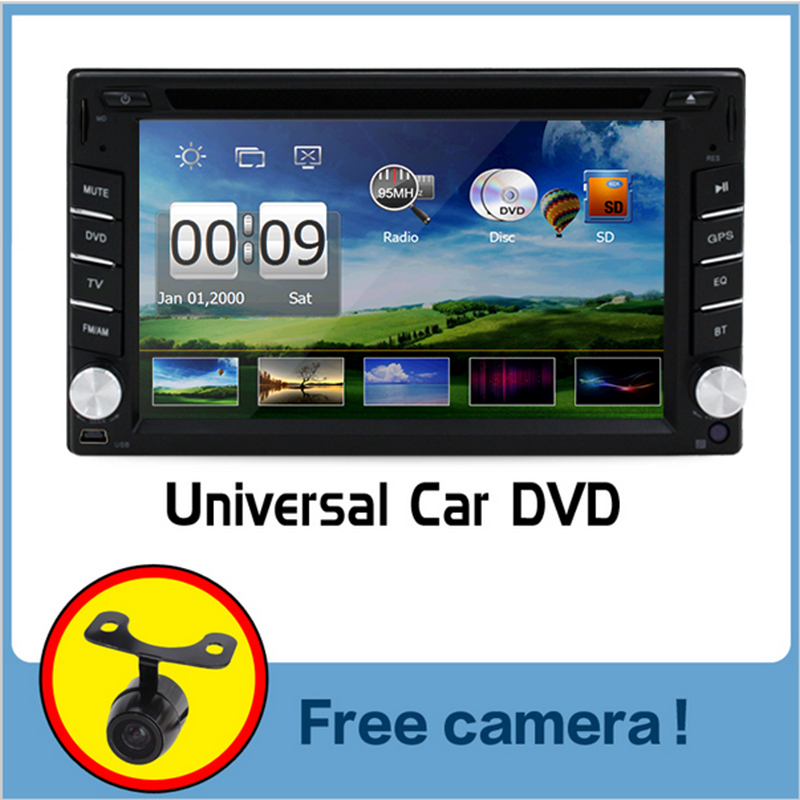 Universal 2 din New Car Radio Double 2 Din Car DVD Player GPS Navigation In dash Car PC Stereo video+Free Map Car Electronics(China (Mainland))