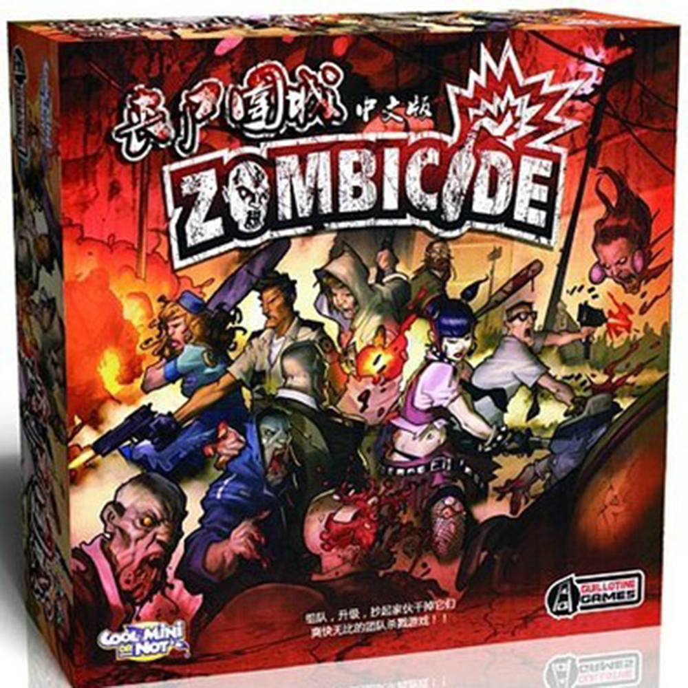 أعلى النموذج اللوح zombicide المخاطرة الميت لعبة النسخة الصينية(China (Mainland))