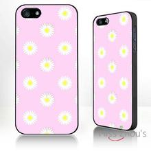 For iphone 4/4s 5/5s 5c SE 6/6s plus ipod touch 4/5/6 back skins mobile cellphone cases cover Daisy Pattern