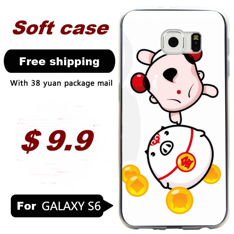 For Samsung Galaxy S6 silicone soft shell protective cases painted G9200/G920F/ mobile phone casing China Doll 2(China (Mainland))