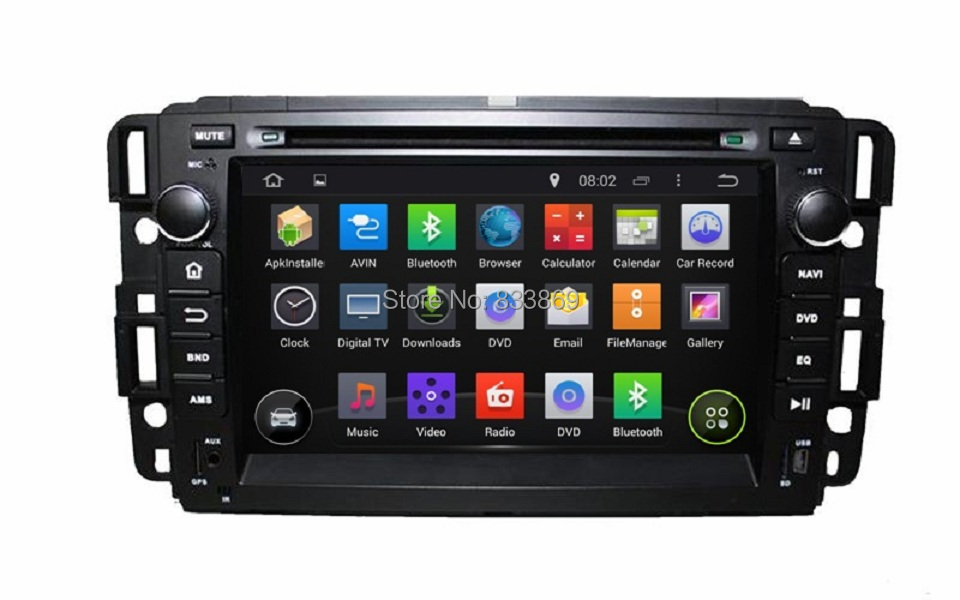 """HD 1024*600 2 din 7"""" Android 4.4 Car DVD GPS Navi for GMC Yukon Tahoe 2007-2012 With 3G/WIFI PC Bluetooth IPOD TV Radio AUX IN(China (Mainland))"""