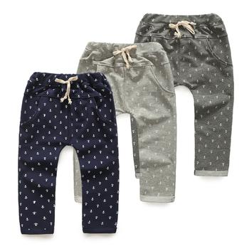 2014 осень якорь мальчиков одежда ребенок ребенок длинные брюки свободного покроя брюки дети трусики