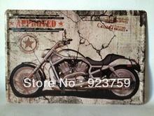 APPROVED MOTORCYCLE LEFT WAY vintage Tin Sign Bar pub home Wall Decoration Retro Metal Art Poster(China (Mainland))