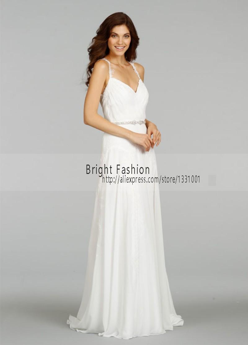 Sexy wedding dress 2016 beach bridal dresses chiffon women for Bridal wedding reception dresses