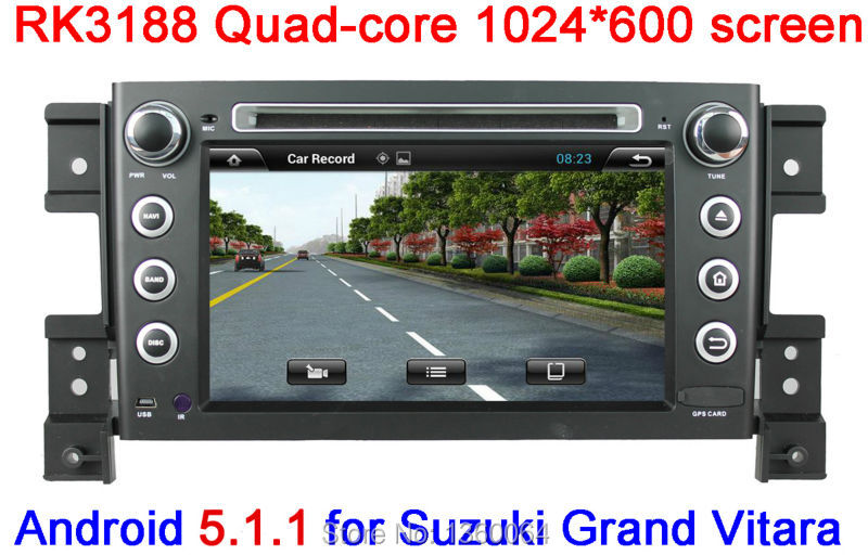 "Quad Core 1024*600 Android 5.1 for Suzuki Grand Vitara Car DVD GPS with 7"" Capacitive Touchscreen Radio Multimedia system Stereo(China (Mainland))"