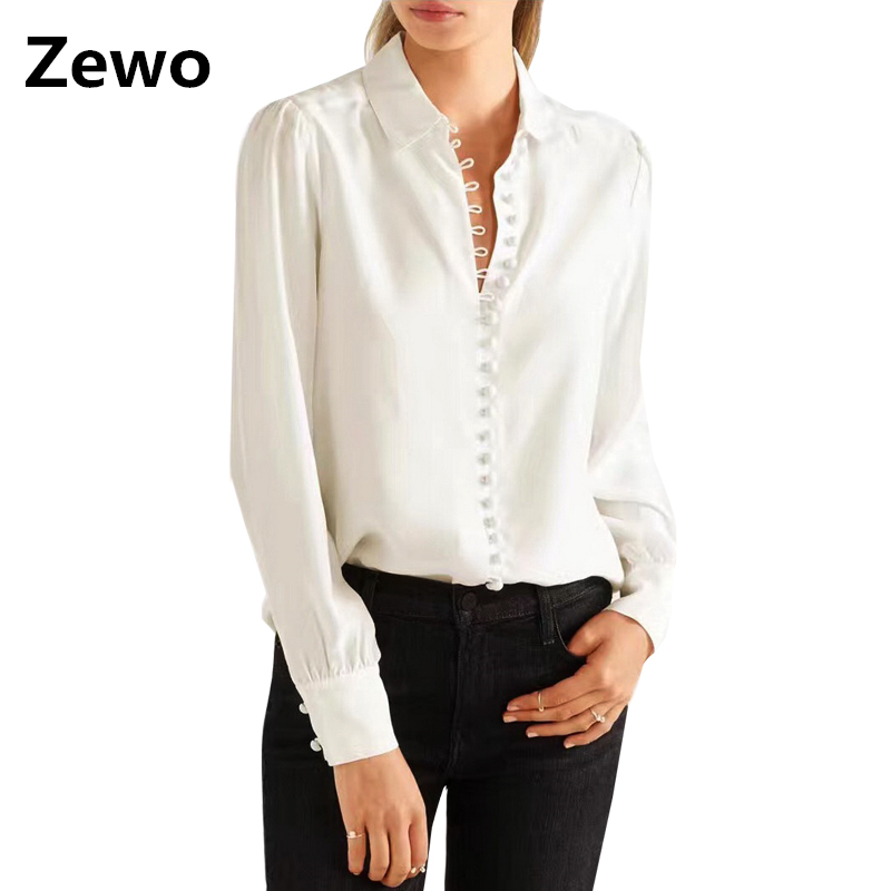 Popular White Button Down Shirts Women Buy Cheap White
