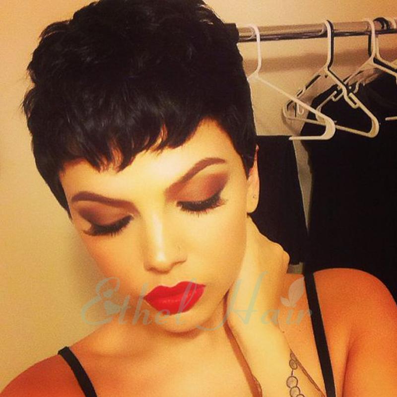 7A Brazilian None Full Lace Human Hair Wigs For Black Women Short Wig Lace Front Human Hair Wigs Virgin Hair Glueless Wigs(China (Mainland))