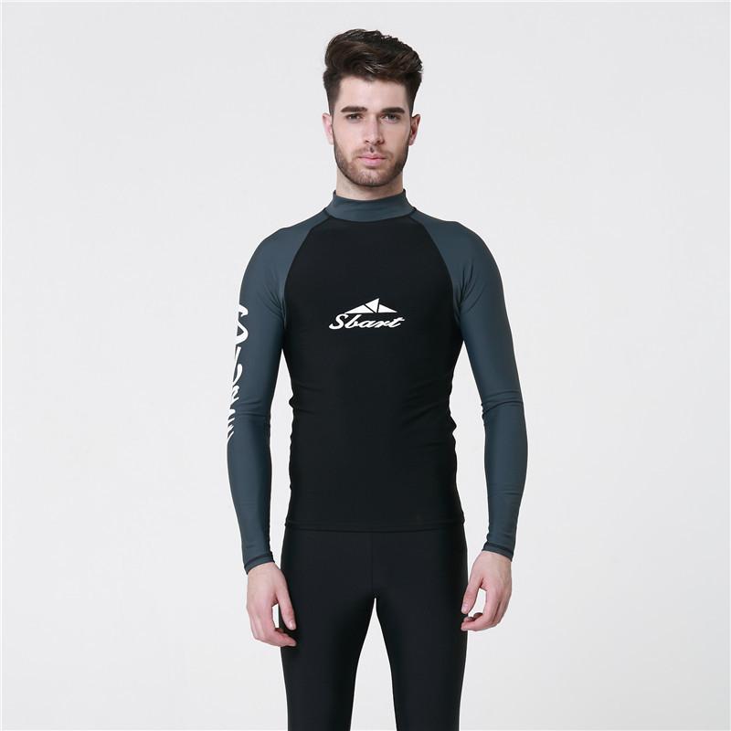2016 New Wetsuit For Men Surfing Windsurf Snorkeling t Shirt Elastic TShirt Professional Swimwear Men's Protection Rash Guard(China (Mainland))