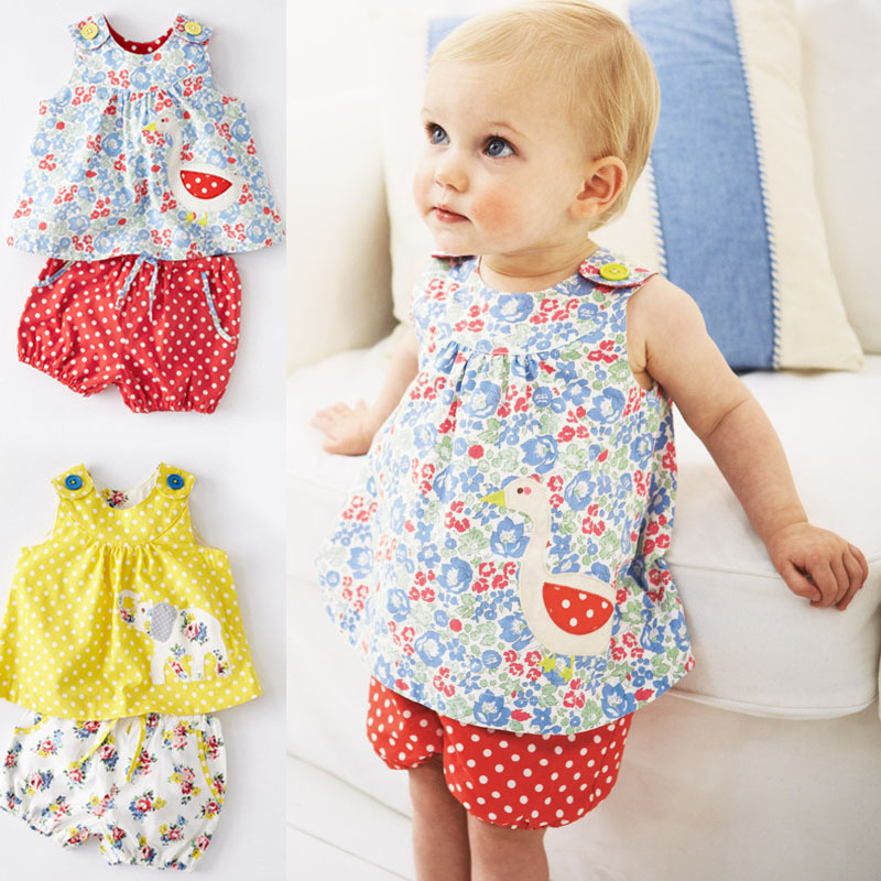 Infant Girls Baby Summer Clothes Set Camisole Vest+Pants Sleeveless Cotton Outfits for Children Girl Kids Drop Shipping CF103(China (Mainland))