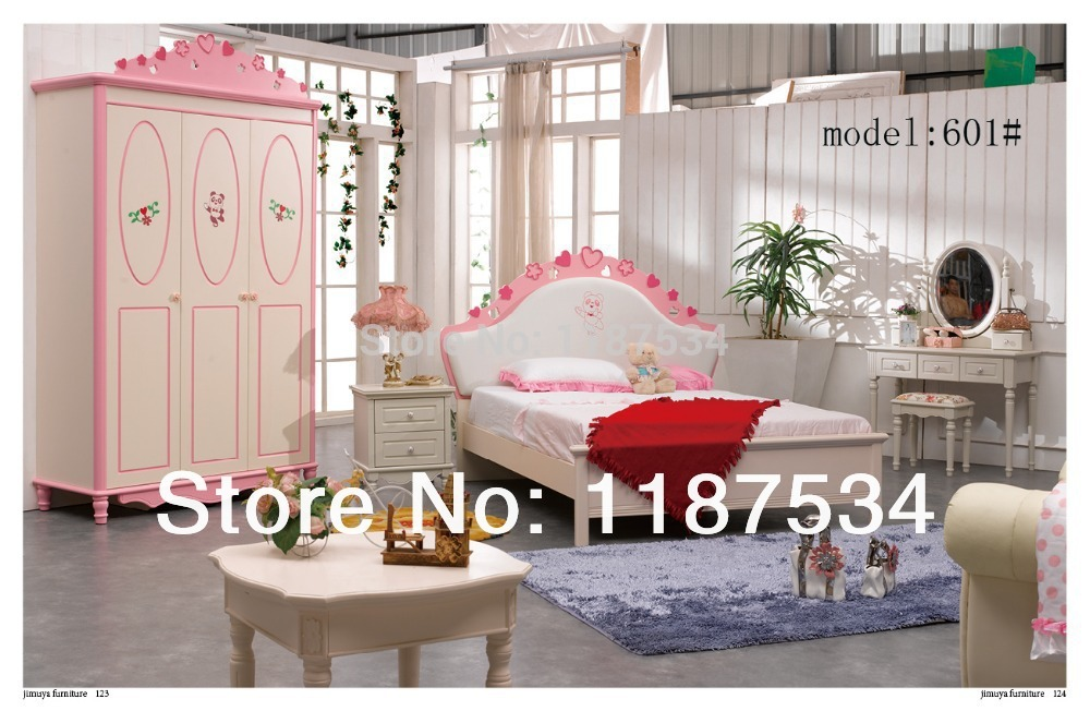 Modern home furniture bedroom set bed wardrobe nightstand for C table for bedroom