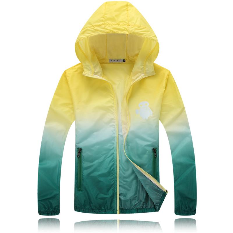 Summer Hip Hop Outdoor 3m Reflective Gradient Jacket Big Hero 6 Baymax Men/Women Windbreaker Waterproof Sport Coat Veste AMD302(China (Mainland))