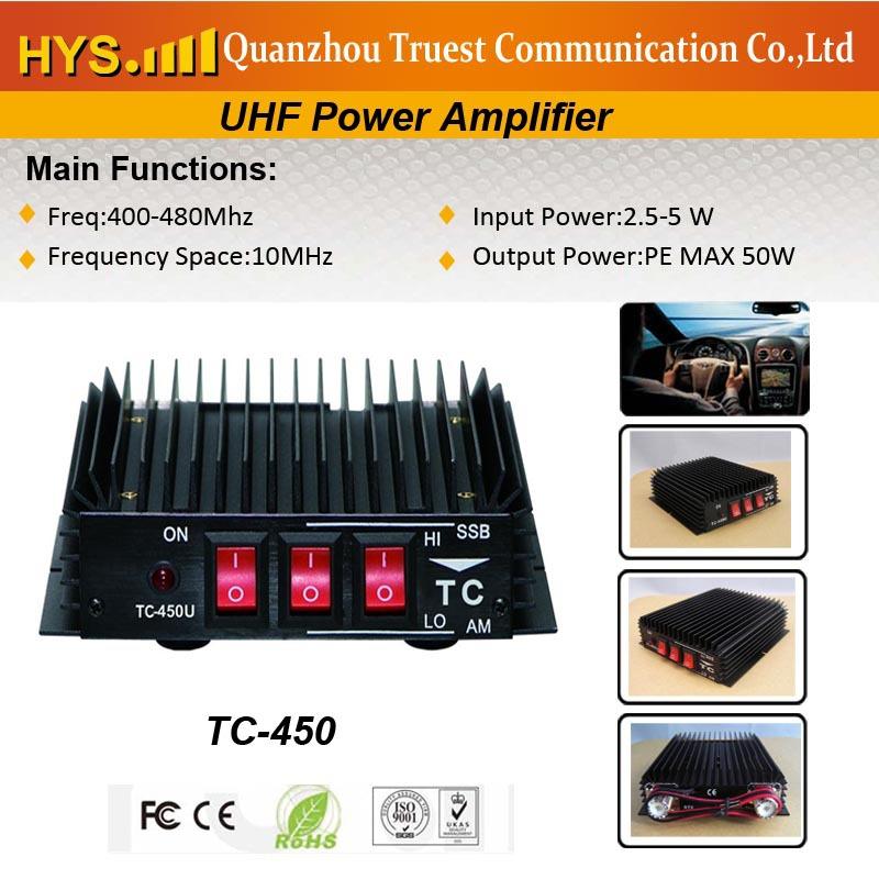 Hot Good performance 50w Handheld Transceiver UHF Amplifier TC-450(China (Mainland))