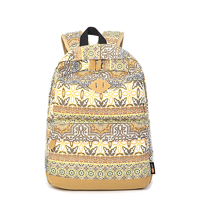 2016 New Fashion Women Backpack Canvas Woman Printing Backpack High Quality Ladies School Backpack Women Shoulder Bags mochila(China (Mainland))