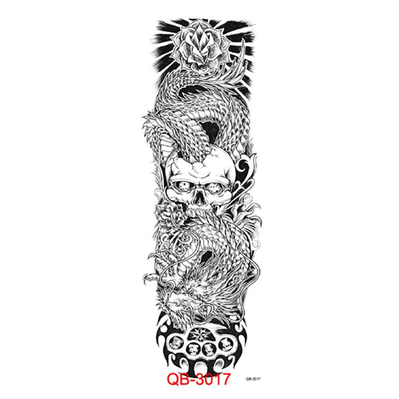 Tattoos white dragon vs skull dangerous scary totem 45 for White temporary tattoos