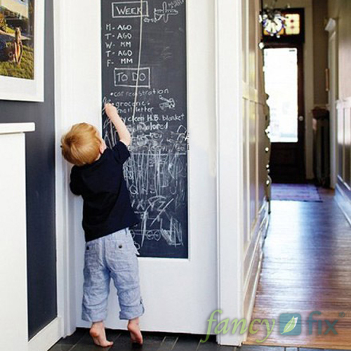 Fancy-fix Vinyl Chalkboard Wall Stickers Removable Blackboard Decals Great Gift for Kids 45CMx200CM with 5 Free Chalks B2(China (Mainland))
