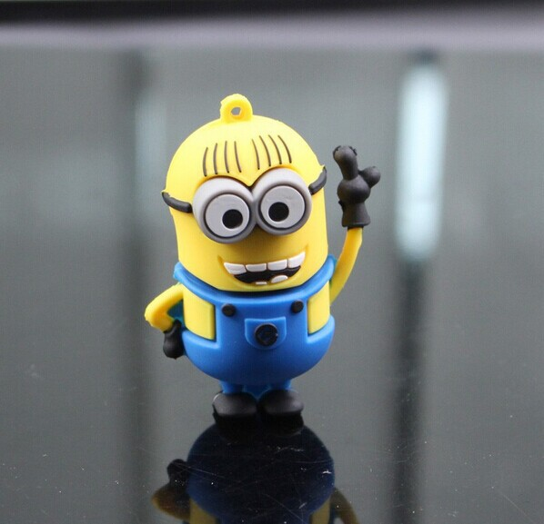 usb flash drive Cute Mr Minions pen drive 64G/32G/16G/8G/4G pendrive u stick novelty usb2.0 Real new Free Shipping(China (Mainland))