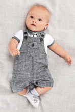 Retail Fashion 2016  Summer baby boy set Gentleman Clothes Baby Suits Kids T Shirt + Overalls Children suit bebe Clothing Set(China (Mainland))