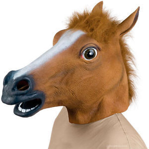 New Horse Head Mask Creepy Halloween Costume Theater Prop Novelty Latex Rubber(China (Mainland))