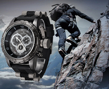 Men's Sports watch Stainless Steel Watch Luxury Quartz V6 Watches Multiple Time Zone Military watch Analog 2014(China (Mainland))