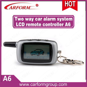Free shipping New Starlionr A6 keychain LCD remote controller for 2-way Starlionr A6 two way car alarm system Factory Wholesales