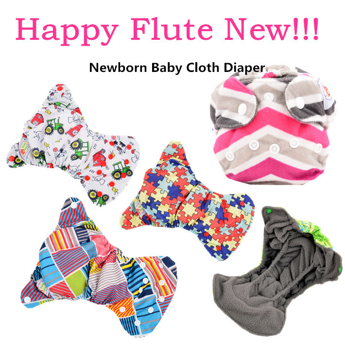 Happy Flute Cloth Diaper Belly Button Newborn Diaper Fit <5KG Newborn Baby Nappies Free Shipping(China (Mainland))