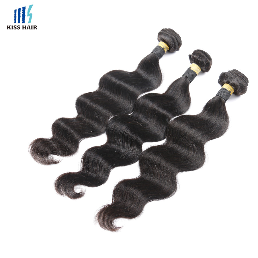 3 Bundles Indian Virgin Hair Body Wave Raw Indian Remy Hair Weave Indian Body Wave Kiss Hair Fashion 7A Unprocessed Virgin Hair
