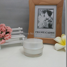 15g pearl white acrylic BARREL SHAPE cream bottle,cosmetic container,,cream jar,Cosmetic Jar,Cosmetic Packaging - packing world -cosmetic and medicine store