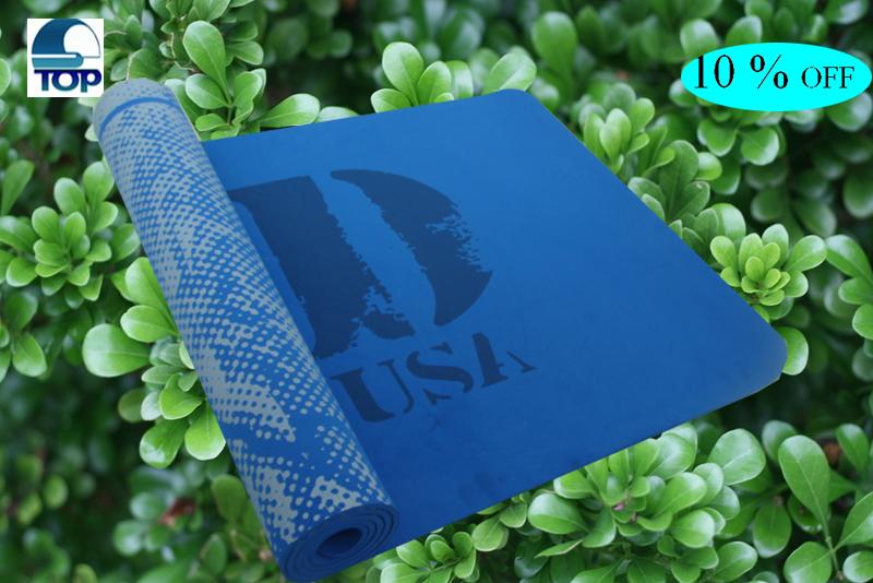 hot sale blue tpe yoga mat made in china(China (Mainland))