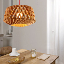 Modern Chandelier Honeycomb Shape Chandelier Wood Chandeliers Simple Dining Room Lighting Decor(China (Mainland))