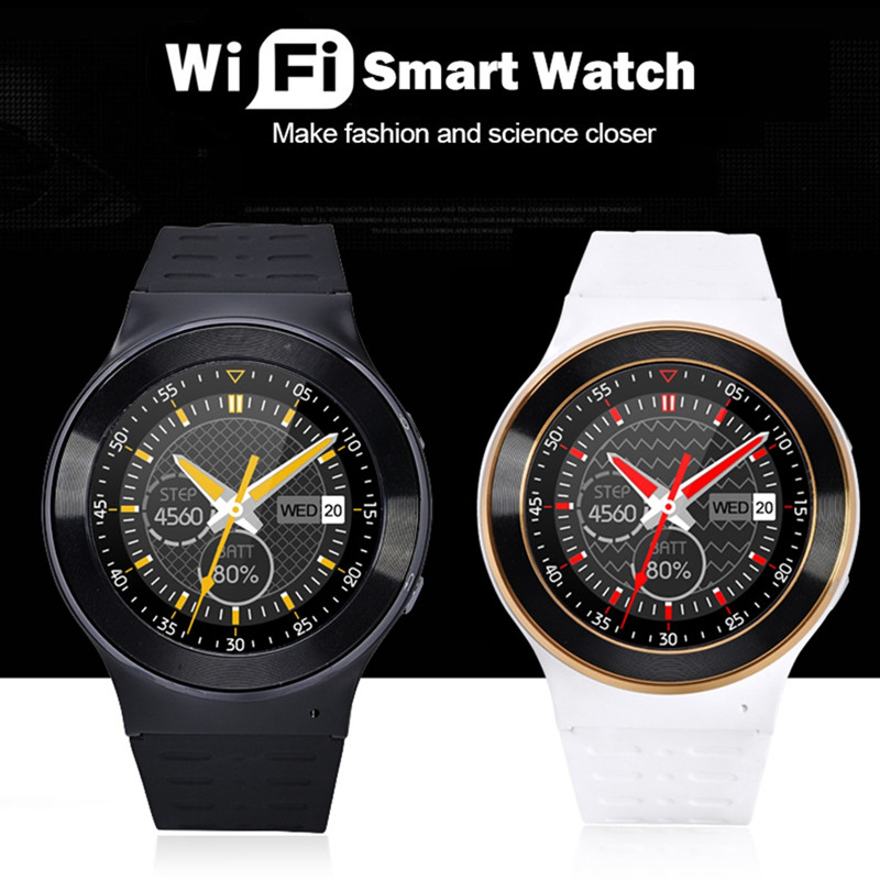 Android 5.1 WIFI Bluetooth smart watch phone gps Pedometer Heart rate monitor 5.0 MP camera wrist watch with 1.3GHz MTK6580M(China (Mainland))