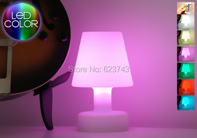 Free Ship Slonglight Led Table Lamp Rechargeable Remote