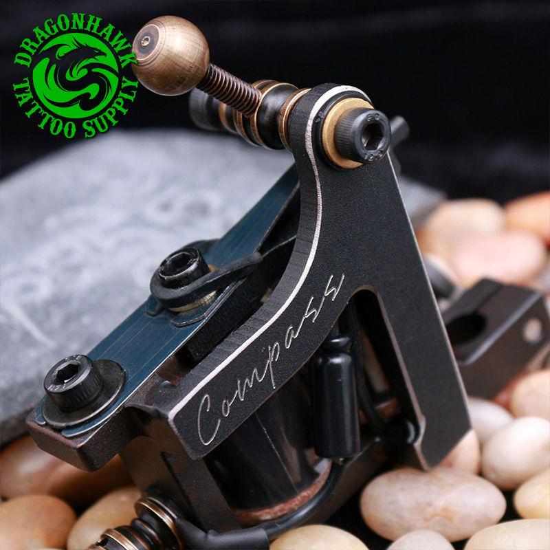 New Arrive Compass Tattoo Machine Liner  & Shader Steel Frame Copper Coils Tattoo Gun