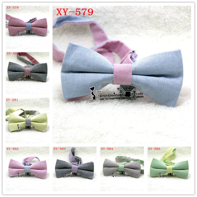 Drop shipping 2015 brand new Men multi color bowtie Polyester cotton butterfly Men presided over the bow tie 16 colors in stock(China (Mainland))