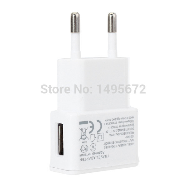 Travel Convenient EU Plug Wall USB Charger Adapter For Samsung Galaxy S5 S4 S3 Note 3 Charger 5V 2A