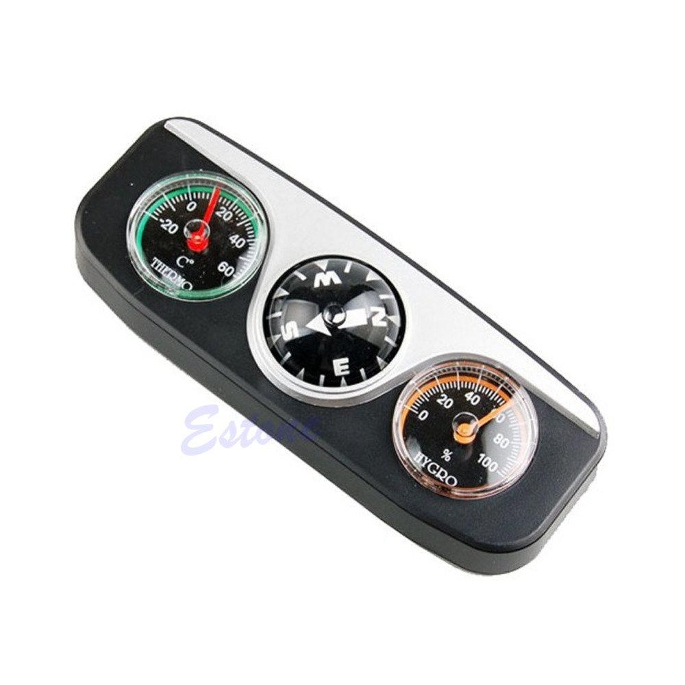 3in1 Guide Ball Car Boat Vehicles Auto Navigation Compass Thermometer Hygrometer(China (Mainland))