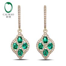 Caimao Jewelry Romantic 14K Yellow Gold & 0.56ct Diamond Anniversary Engagement Drop Earring(China (Mainland))