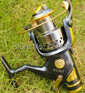 Superior sw50 Metal Fishing Reel Spinning 9+1BB Gear Ratio 5.2:1 Fish Coil Carretilha Pesca SW50 - Tong Cheng's store