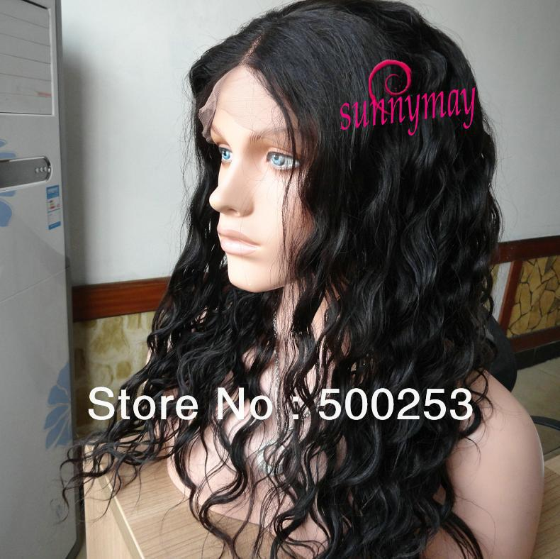 Sunnymay Middle Parting Loose Wave Virgin Brazilian Hair lace Front Wig